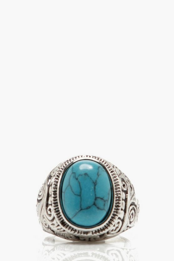 Stone Detail Signet Ring