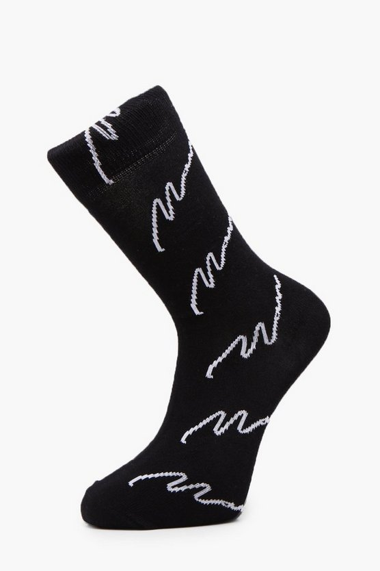 Embroidered Expedition Slogan Socks