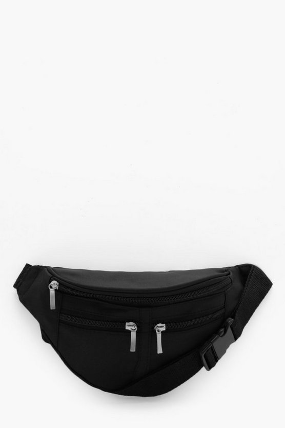 Three Pocket Nylon Bumbag