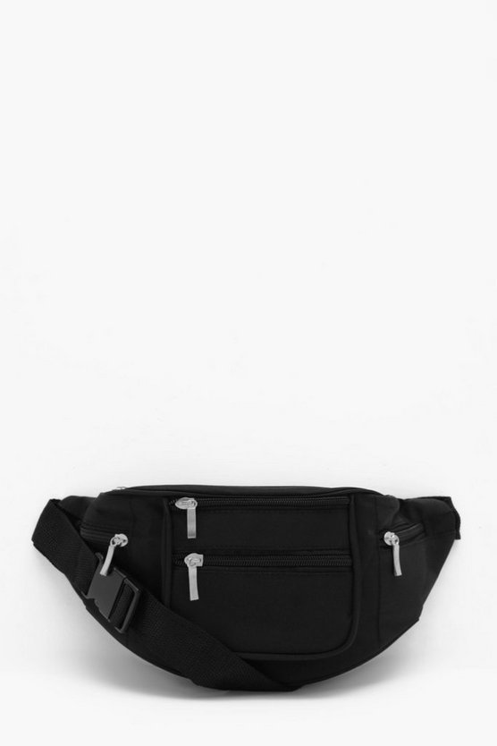Multi Pocket Nylon Bum Bag