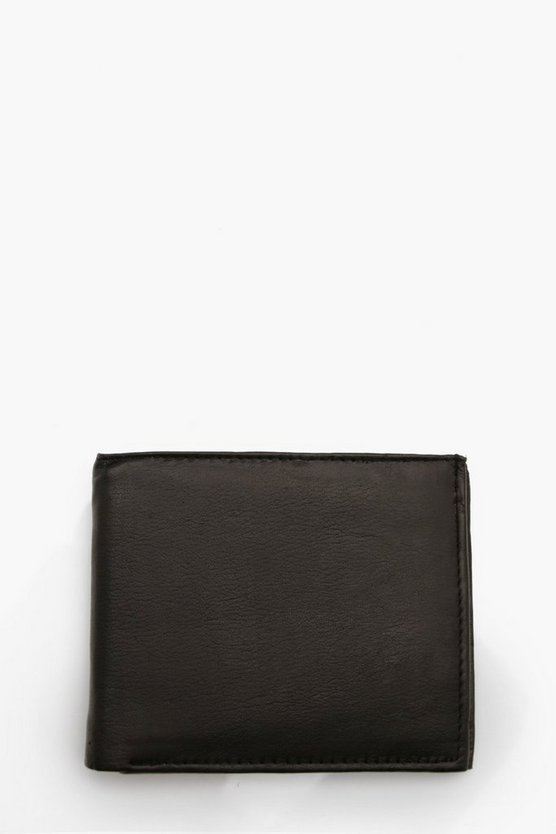 Real Leather 3 Section Wallet