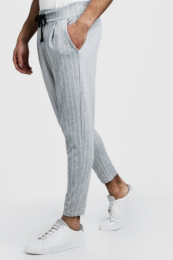 Pinstripe Smart Jogger Pants