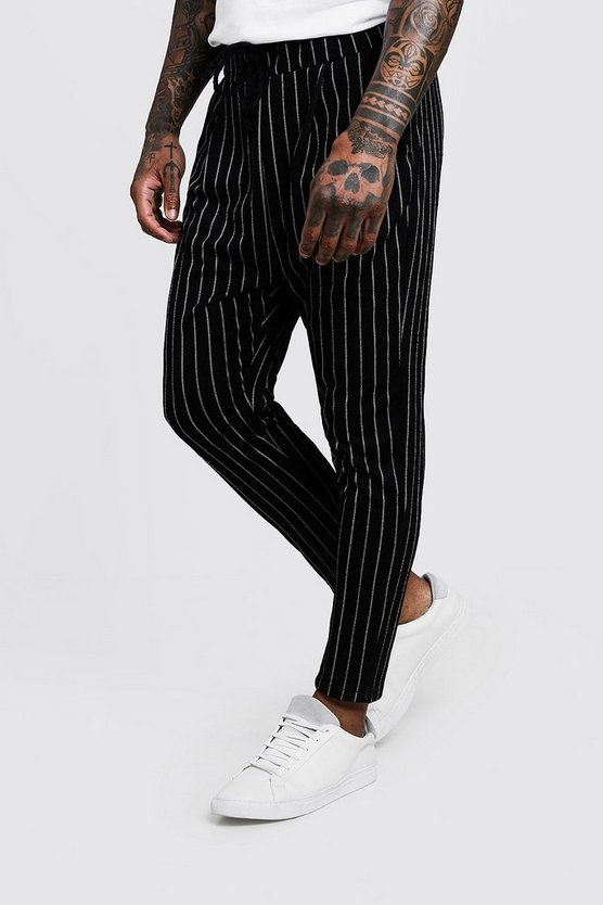 Pinstripe Smart Jogger Trousers