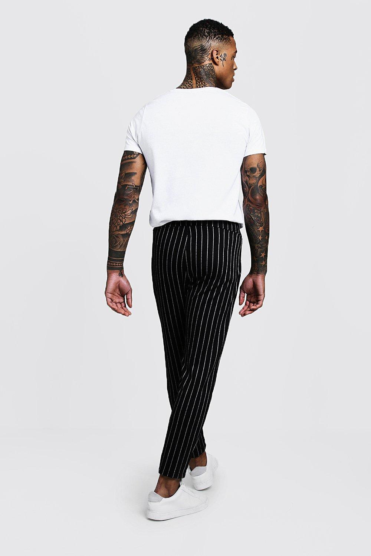 Smart Pinstripe Trousers Pinstripe Jogger Smart black qFEww1p