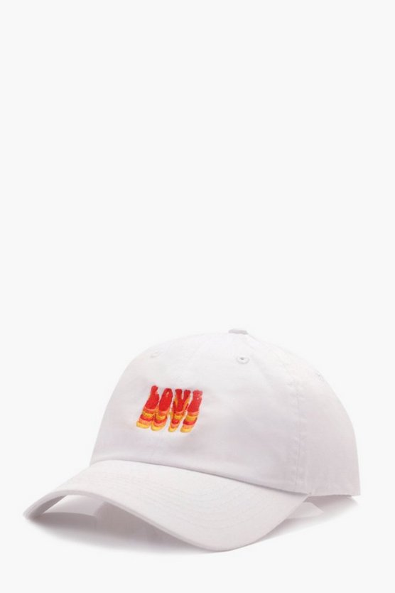 Pride Love Embroidered Enzyme Wash Cap