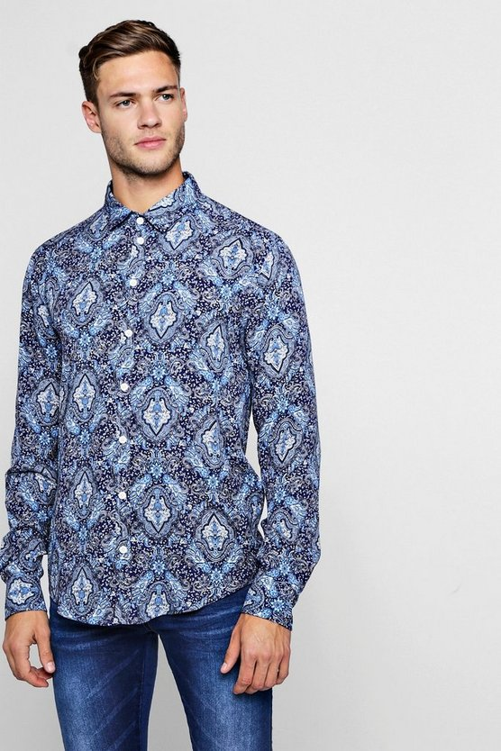 Paisley Print Long Sleeve Shirt