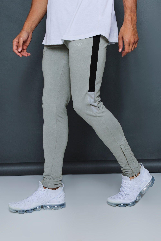 Pantalones de detalle abismo marcados con correr reflectante rrzqUp
