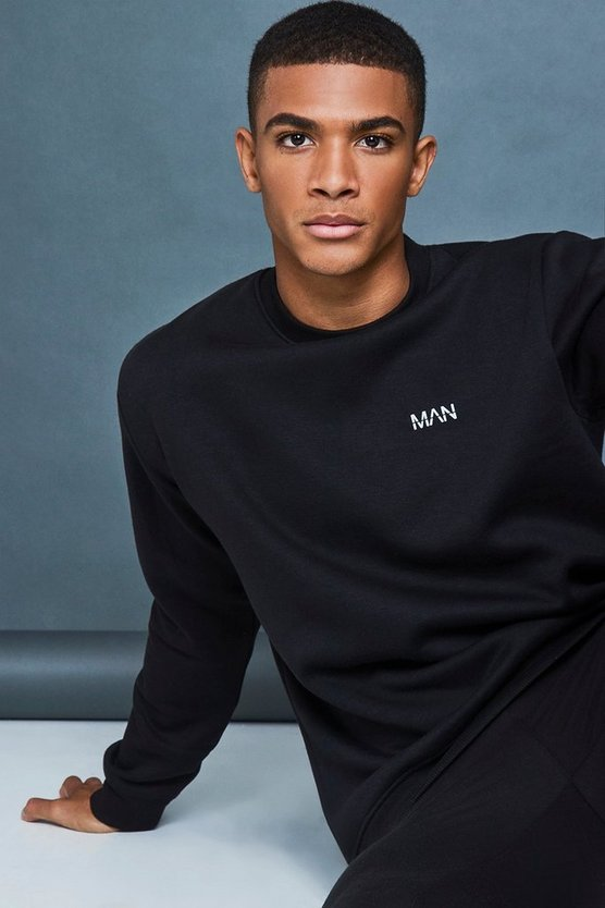 Regular Fit Reflective Print Sweatshirt