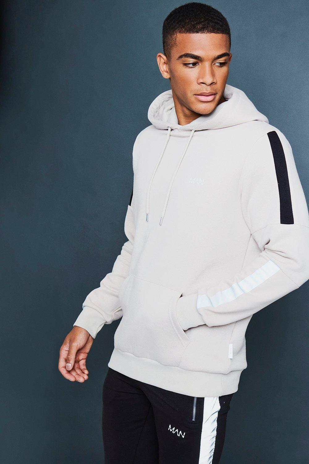 Over The Head Hoodie With Reflective Detail