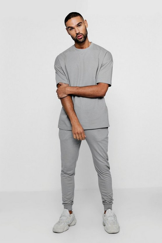 Loose Fit Drop Shoulder Sweat Tracksuit