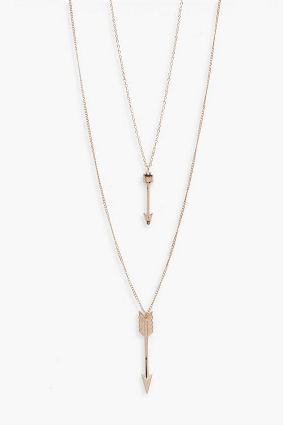 Double Layer Arrow Necklace