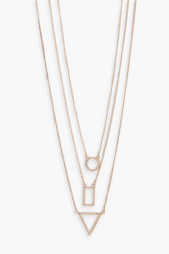 Triple Chain With Geometric Pendants