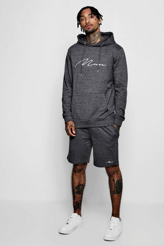 MAN Signature Hooded Short Tracksuit
