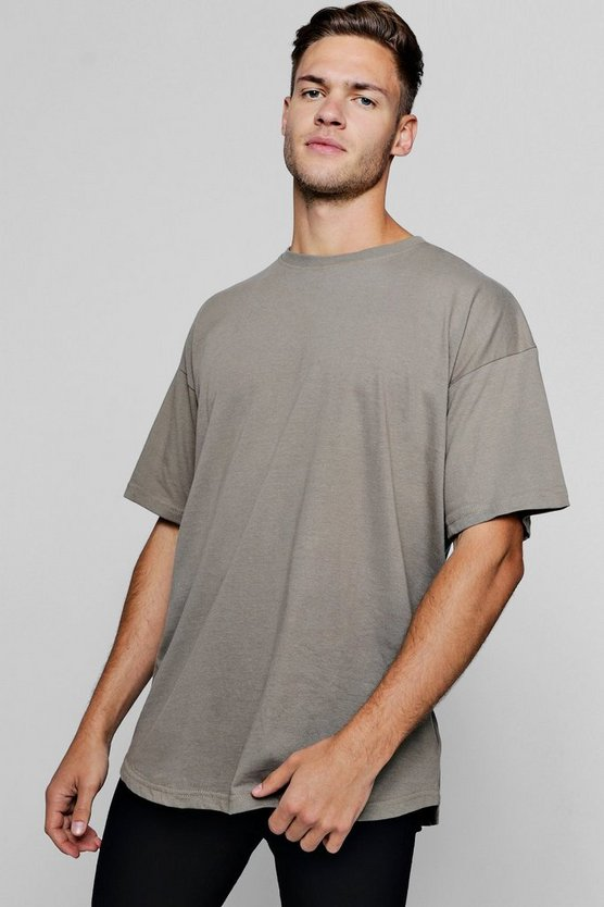 Oversized T-Shirt With Curved Hem