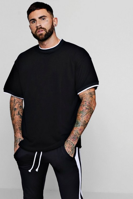 Oversized T-Shirt With Sports Rib