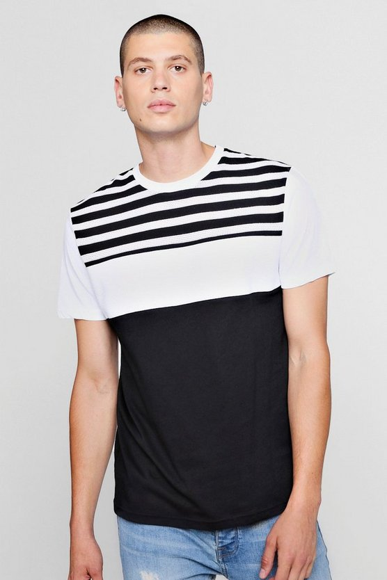 Stripe Colour Block T-Shirt
