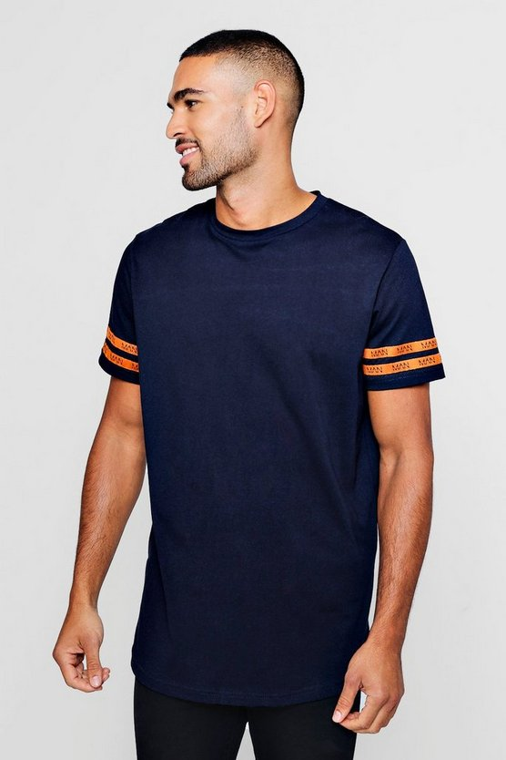 Longline T-Shirt With MAN Tape