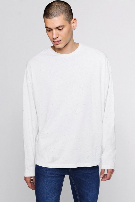Long Sleeve Oversized Nepp T-Shirt