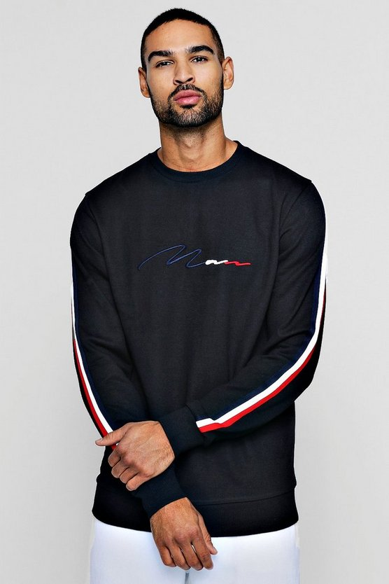 MAN Signature Sweater With Side Tape