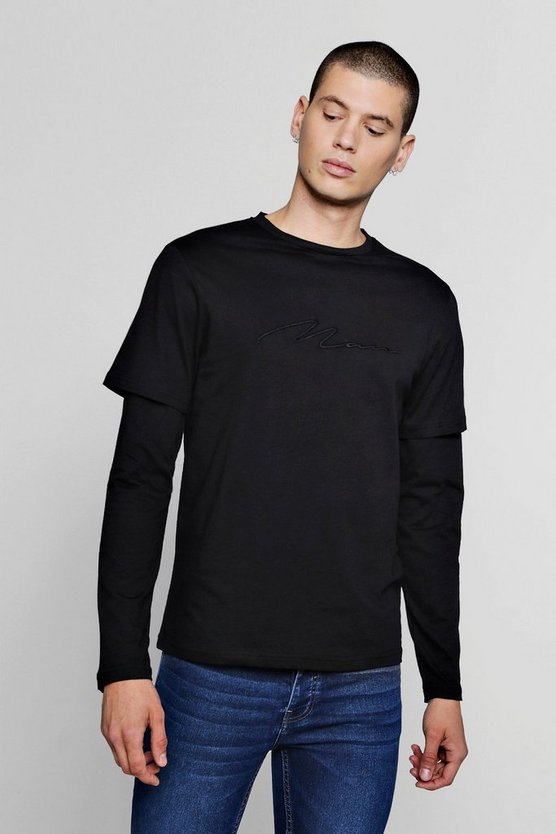Faux Layer Man Signature T-Shirt