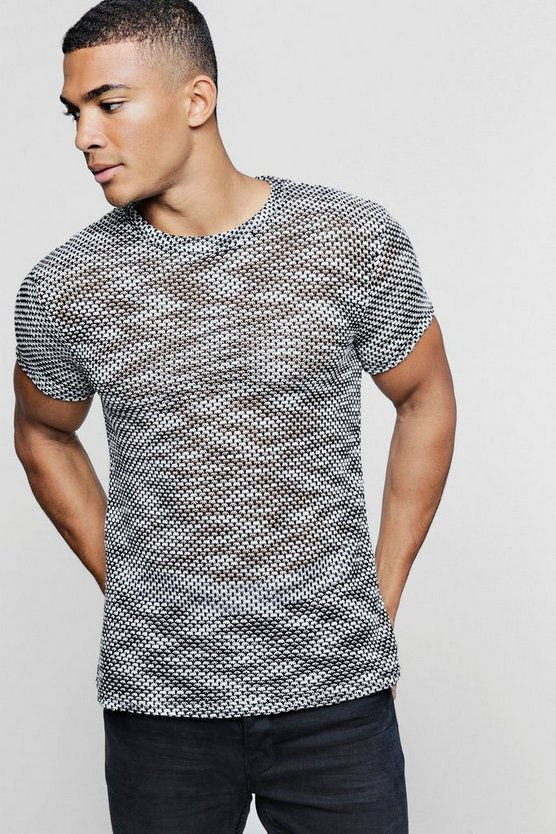 Salt And Pepper Knitted T-Shirt