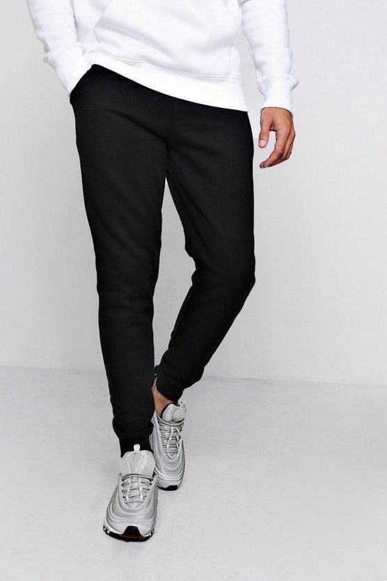 Slim Fleece Jogger With Zip Detail