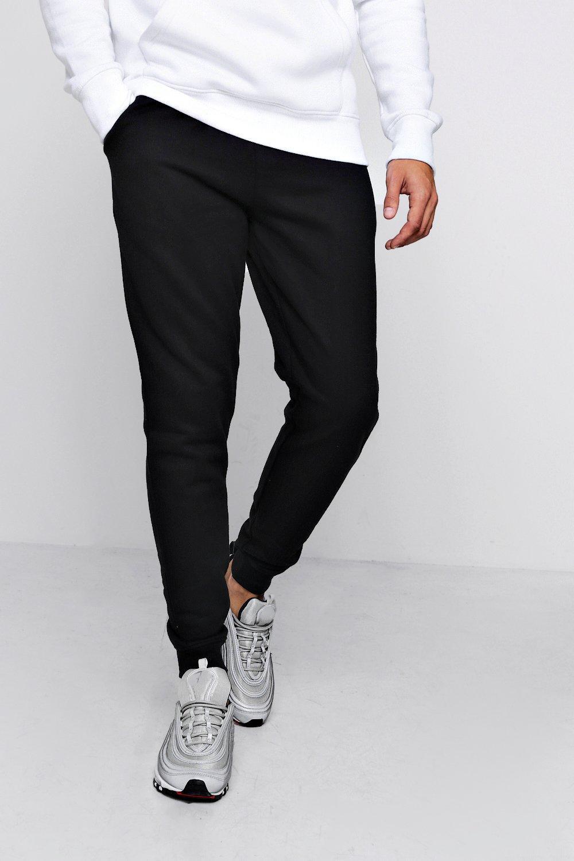 detalle negro de polar con cremallera de correr forro entallados Pantalones y vBxq70q