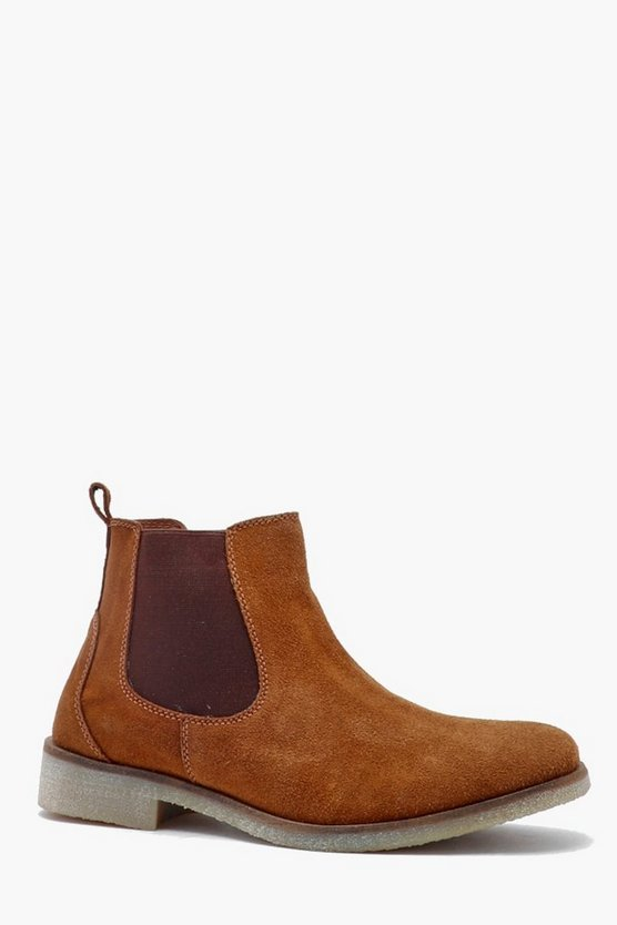 Real Suede Chelsea Boot