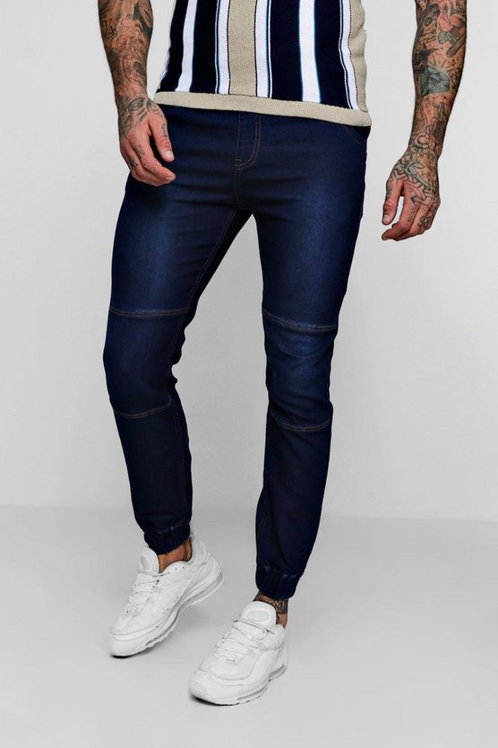 Skinny Fit Jersey Denim Joggers