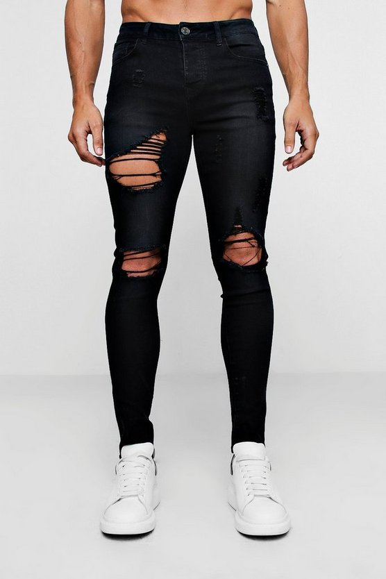 Super Skinny Jeans With Heavy Distressing