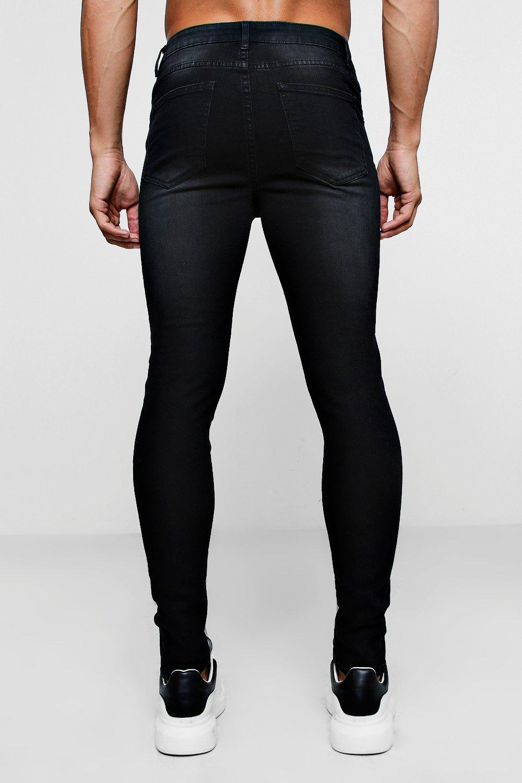 super muy negro desgastados Jeans skinny dvYFqdB