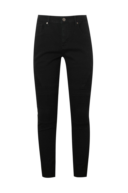 negros biker Jeans Jeans skinny negro biker wapFvF