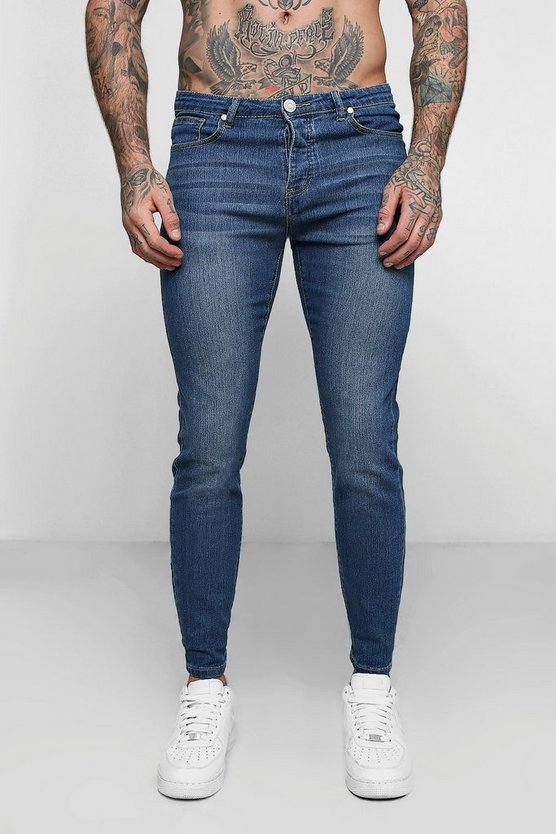 Skinny Fit Jeans In Pale Blue