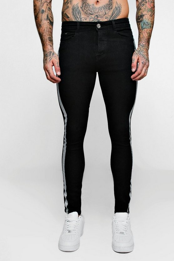Super Skinny Jeans With Metallic Print