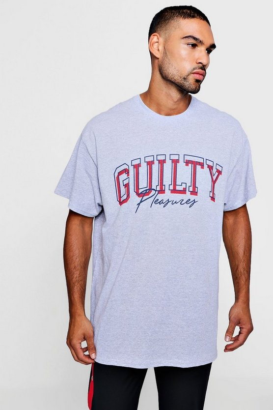 Oversized Guilty Pleasures Print T-Shirt