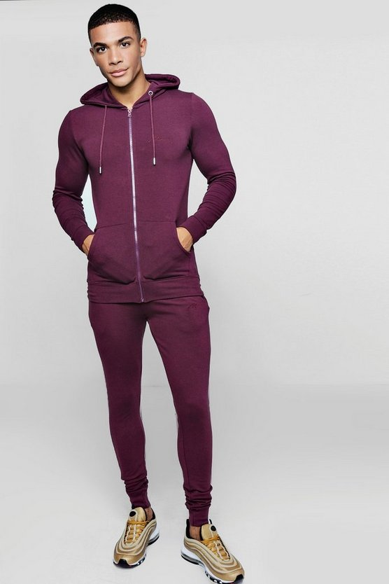 Zip Through Muscle Fit MAN Tracksuit