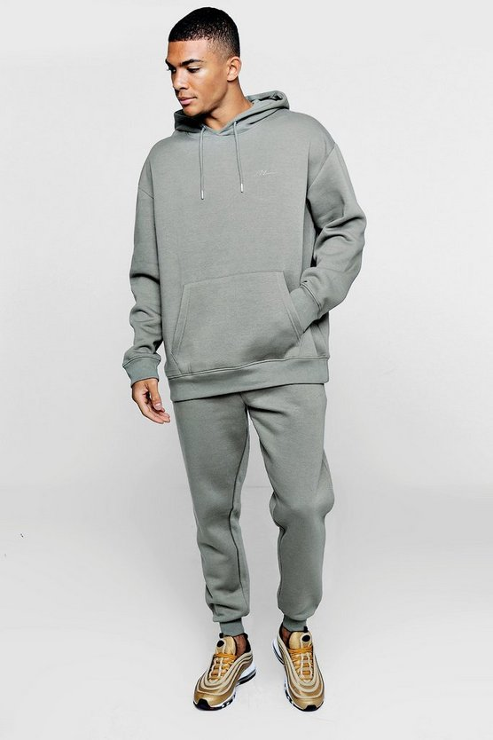 Oversized Loose Fit Hooded Fleece Tracksuit