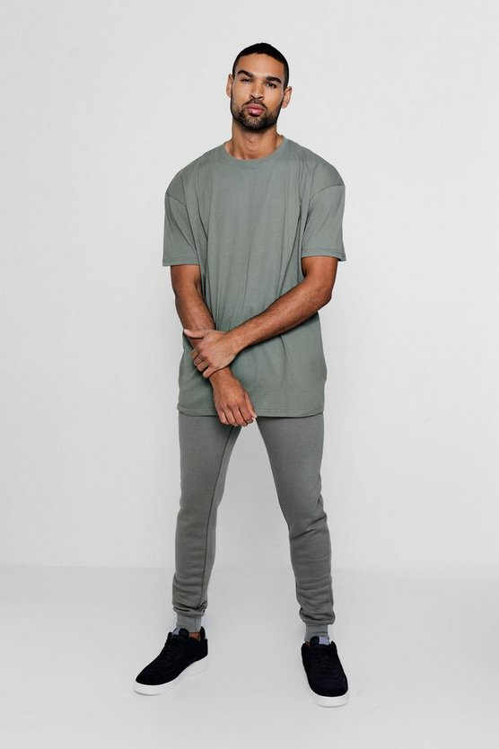 Oversized T-Shirt And Jogger Tracksuit