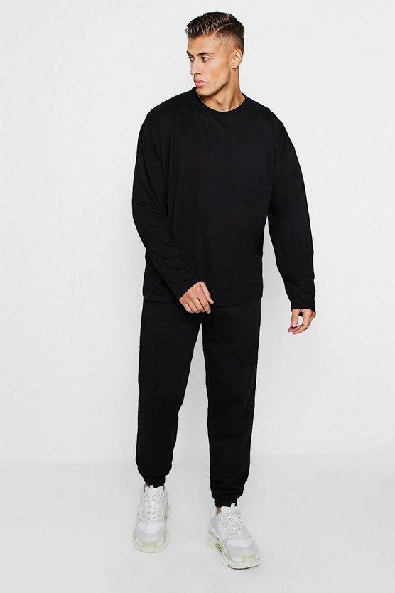 Oversized Long Sleeve T-Shirt & Loose Jogger Set