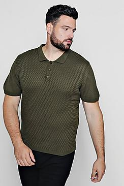 Big And Tall Short Sleeve Knitted Polo