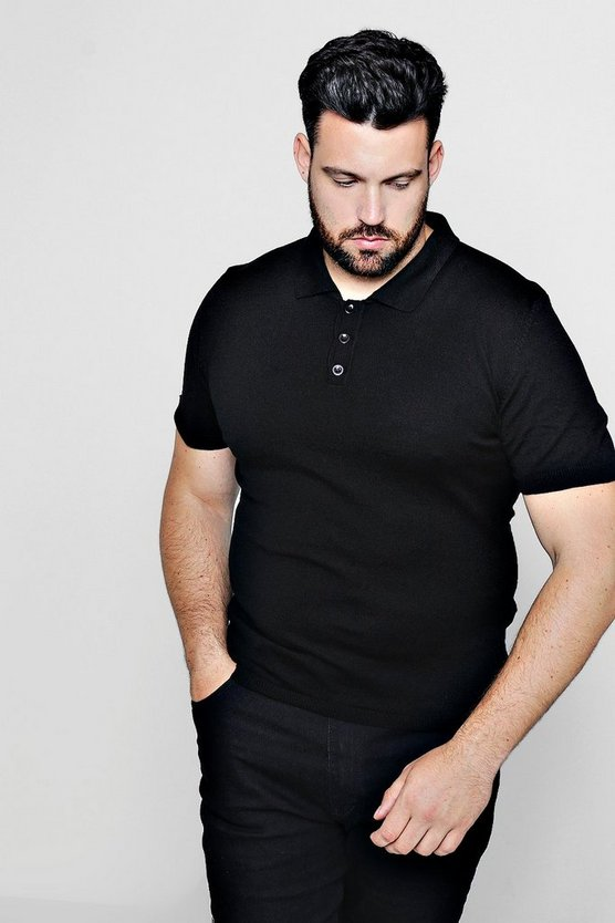 Big And Tall Fine Gauge Knit Polo