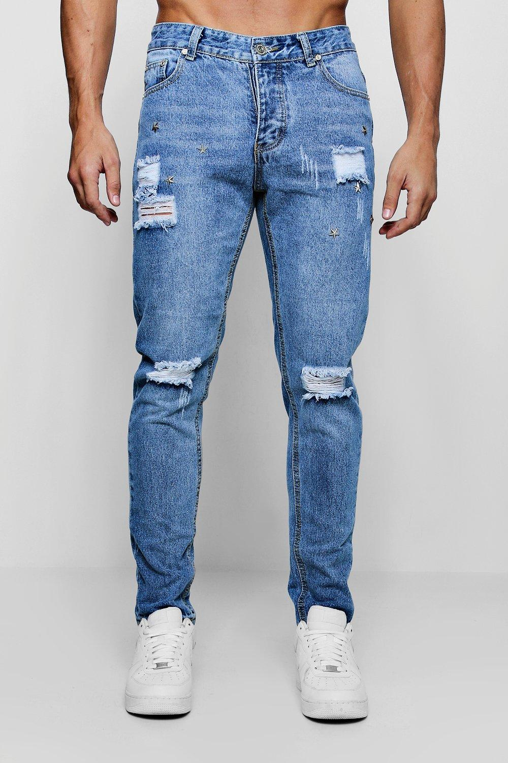 Skinny Fit Jeans With Stud Work