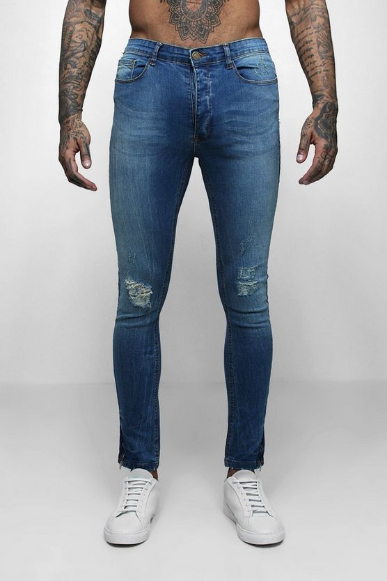 Skinny Jeans With Distressed Knees