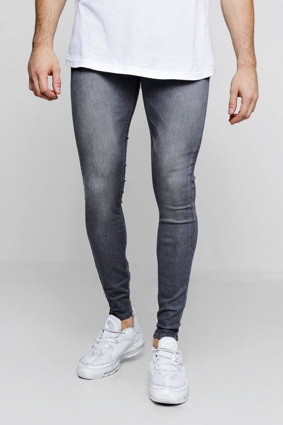 Super Skinny Grey Denim Jeans
