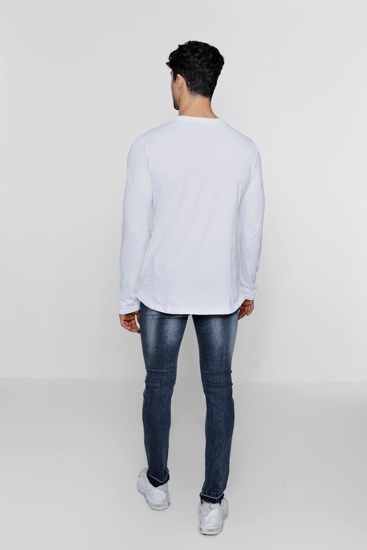 rasgadas con azul y rodillas bajo skinny medio caído Jeans 5tOwqpZ