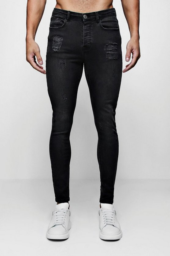 Super Skinny Jeans With Light Distressing