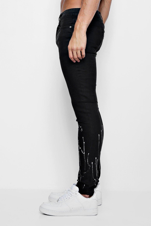 pintura con en super de manchas negro Jeans bajo skinny desteñido wXn4ECYEUq