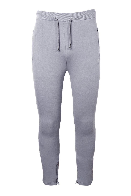 forro con y gris cremallera de lateral Pantalones skinny correr polar qpPtS0H