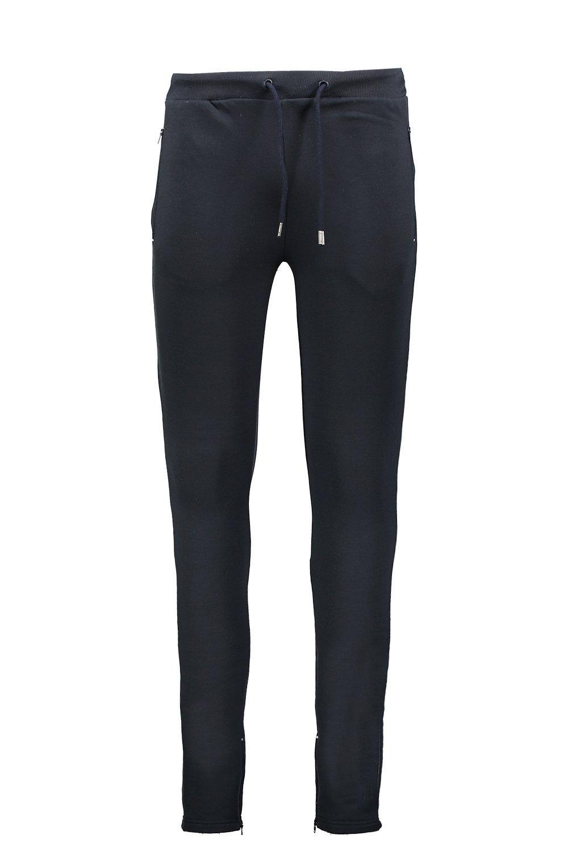 marino Azul cremallera polar Pantalones lateral de con skinny y forro correr xwwfqOvS