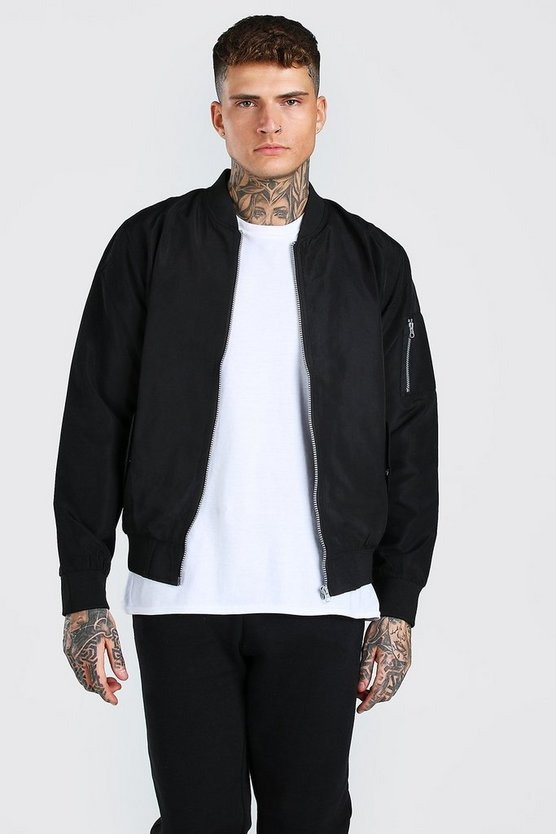 Mens Black MA1 Bomber Jacket